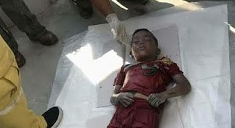 Efforts to resuscitate the young boy proved abortive