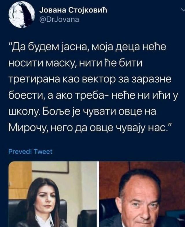Dr Stojković bila je najglasnija u borbi protiv maski u školama