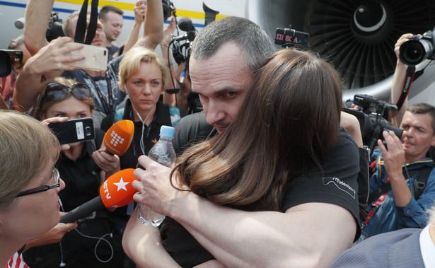 Powitanie Sencowa w Kijowie