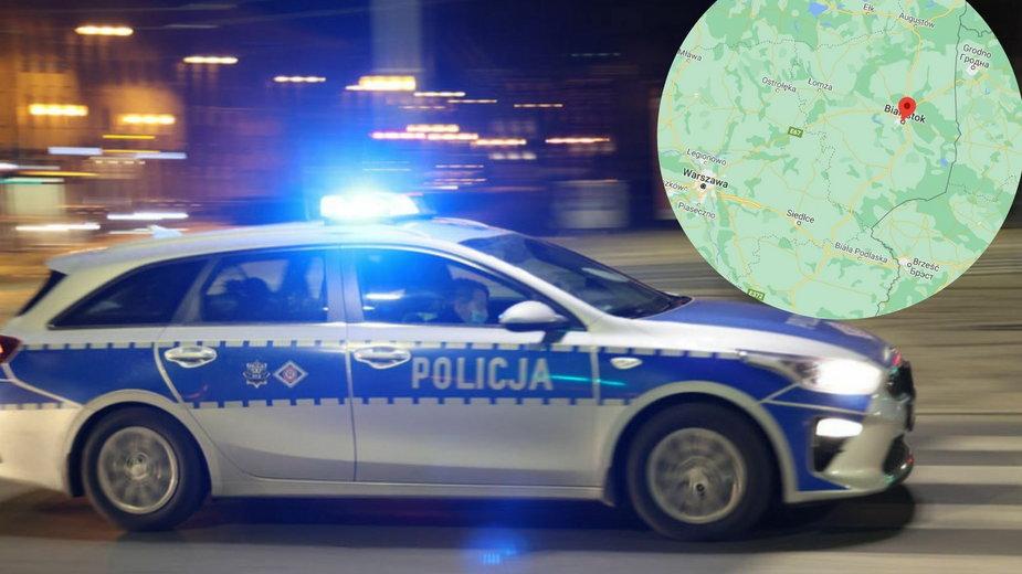 Białystok: Wypadek z udziałem pojazdu policji. Trzy osoby w szpitalu