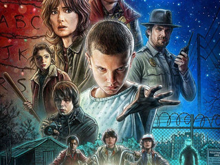 "Plakat serialu ""Stranger Things"""