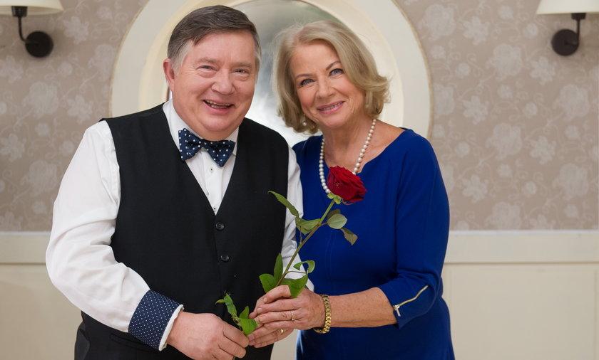 Mieczysław Hryniewicz i Bożena Dykiel