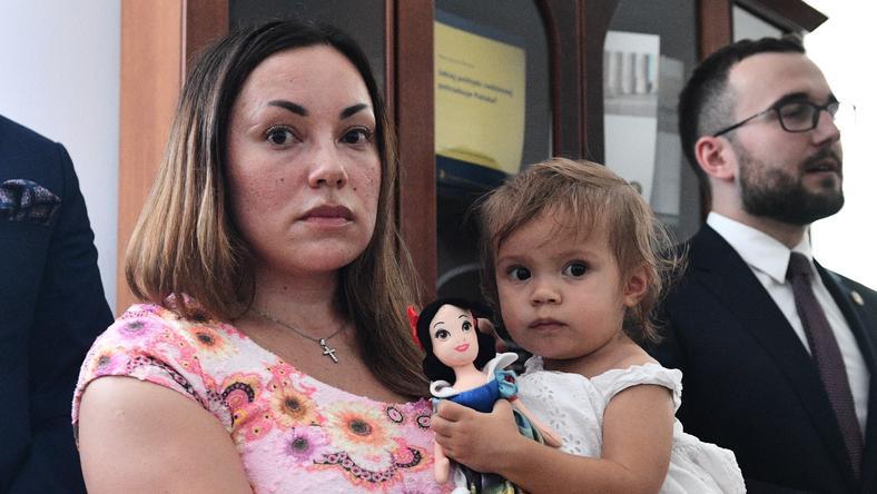 Silje Garmo med datteren hennes