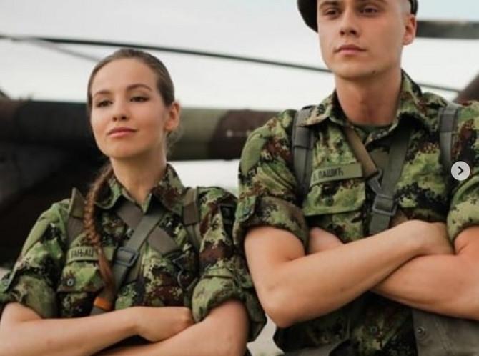 Andrea Ržaničanin i Miodrag Dragičević u Vojnoj akademiji