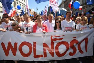 Marsz wolności. Lubnauer: Wolność jest wpisana w polskie DNA; Polacy nie pozwolą na jej zabranie
