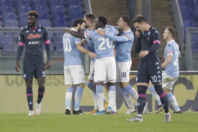 Fudbaleri Lacija slave jedan od dva pogotka u meču s Napolijem