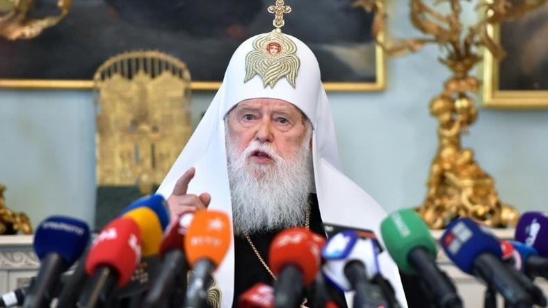 Honorary Patriarch Filaret, 90, accused the young head of the newly created united church of reneging on an agreement to share power
