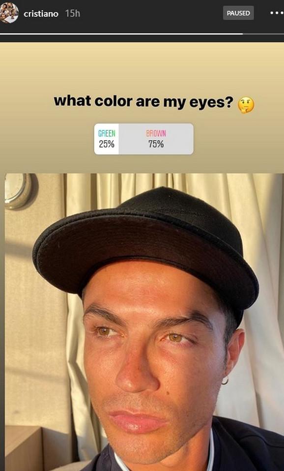 Kristijano Ronaldo i njegova Instagram anketa o boji očiju