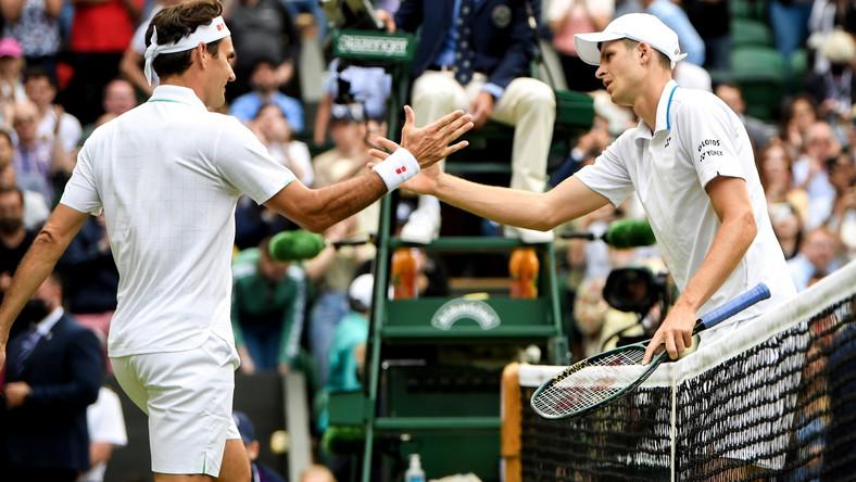 Hubert Hurkacz i Roger Federer