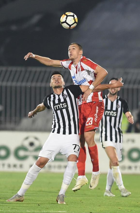Goran Zakarić (Partizan) i Milan Rodić (Crvena zvezda)