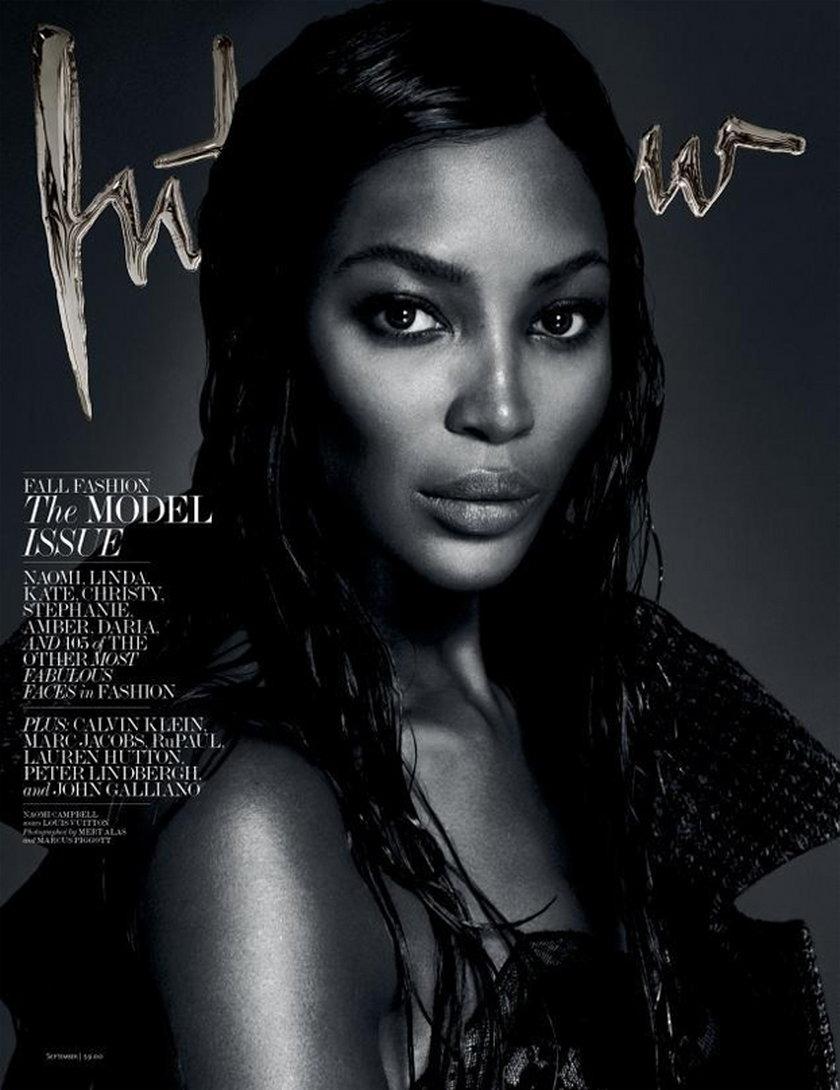 Naomi Campbell w magazynie Interview