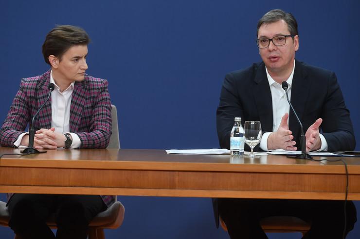 Aleksandar Vučić, Ana Brnabić, obraćanje naciji, nove mere, korona, 17. mart