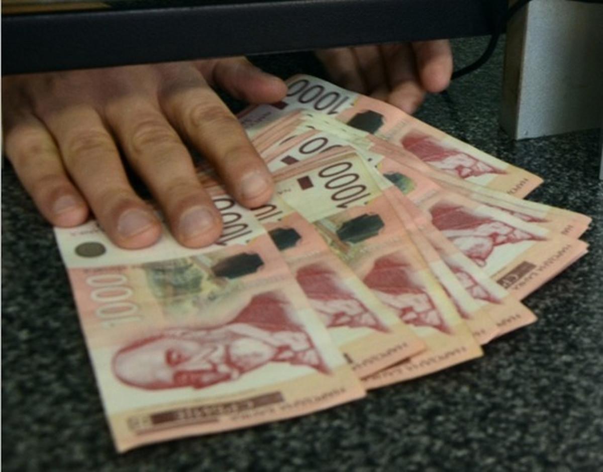 Dinar u ponedeljak bez promene, kurs 118,2659