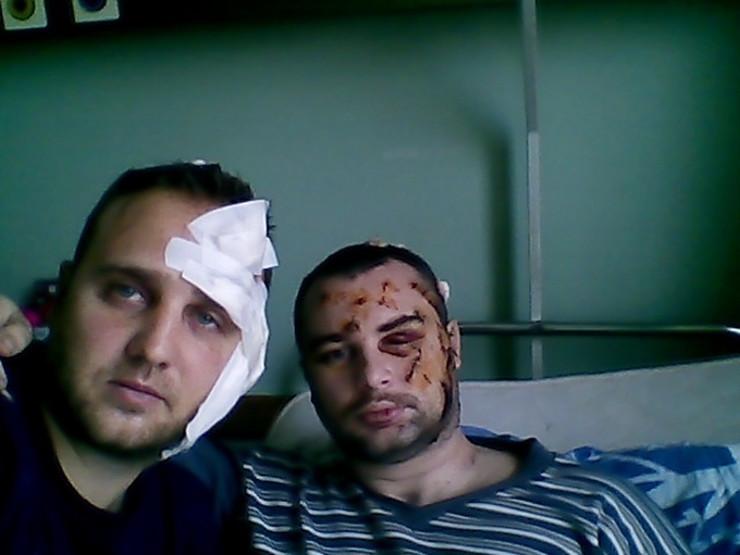 Prebijeni policajci Miroslav Manjoš i Vladimir Nedeljković