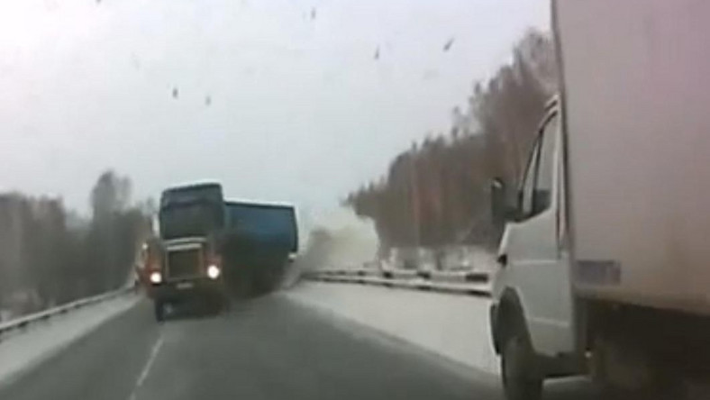 Wyprzedzanie TIR-em w Rosji