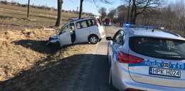 Groźny wypadek pod Lubaczowem. 14-latek wypadł z samochodu
