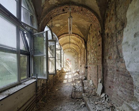 Hodnik u sanatorijumu koji je ruska vojska koristila kao bolnicu do ujedinjenja Nemačke