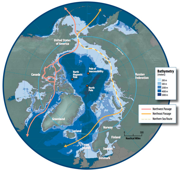 Mapa Severnog pola