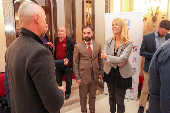 Nikola Penić, generalni sekretar Sportskog saveza Beograda, na svečanosti
