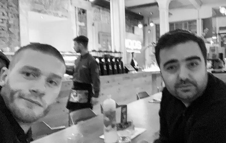 Aleksandar Radojičić sa prijateljem koji je preminuo