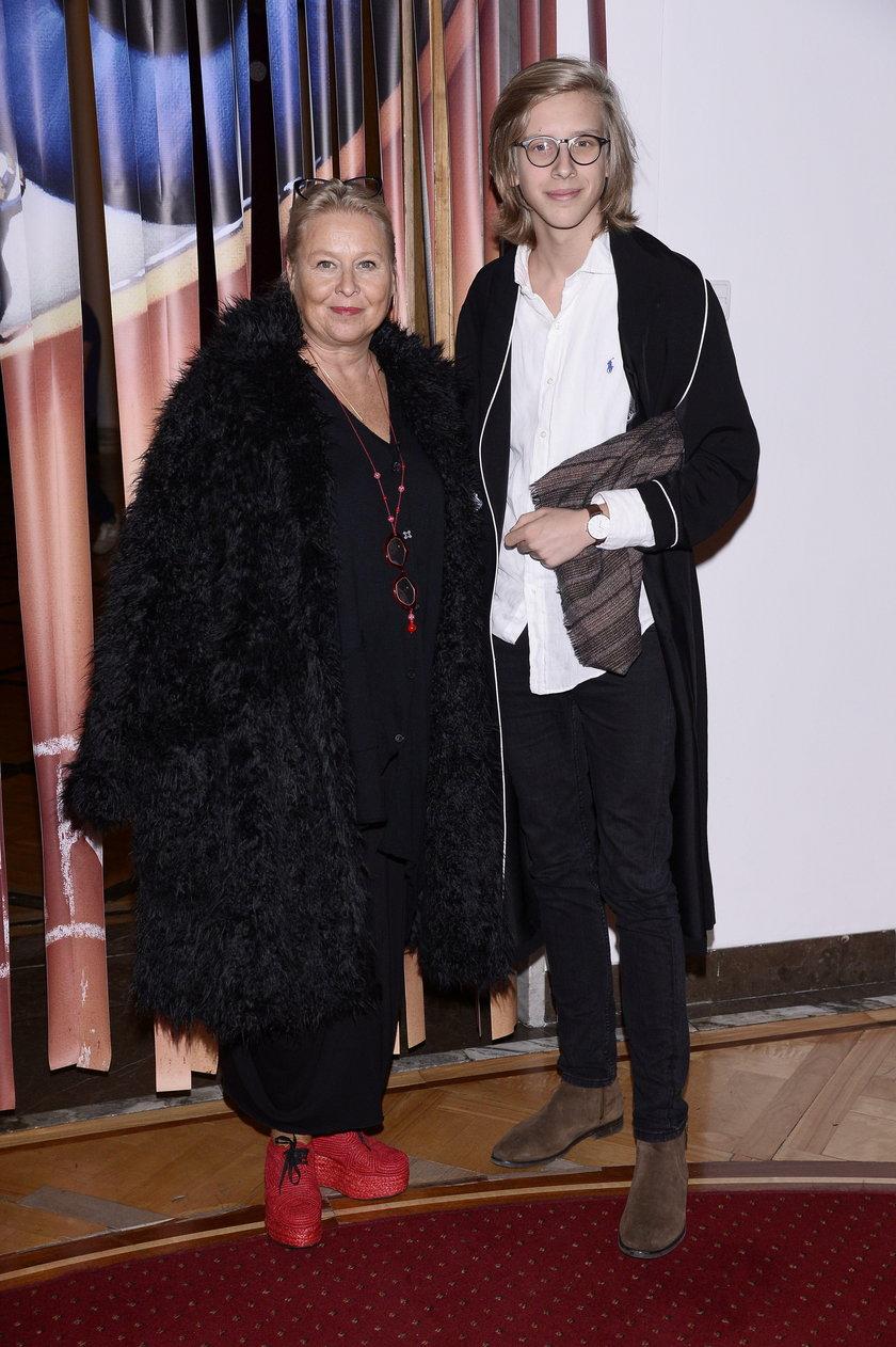 Joanna Sarapata z synem, Jovanem