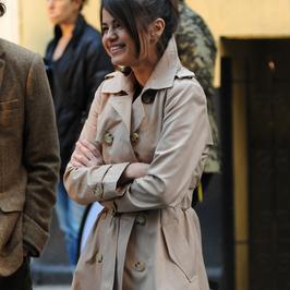 Elegancka Selena Gomez na planie nowego filmu mistrza komedii. Z kim się całuje?