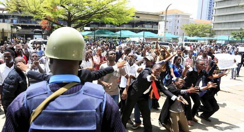 UoN students protest