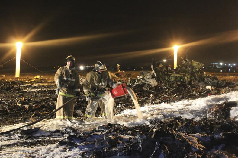 Miejsce katastrofy rosyjskiego Boeinga