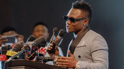 WCB's Mbosso joins the millionaires club, receives the Golden Plaque (Photos)