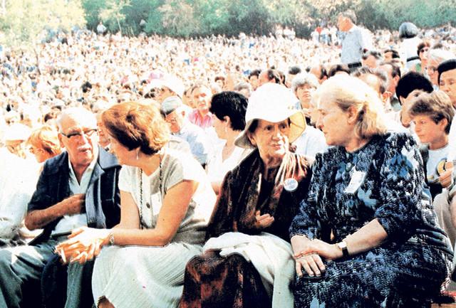 Desanka Maksimović i Mira Alečković na Saboru