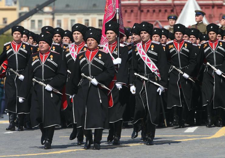Kozaci iz Kubana Kadetkinje vojne škole Suvorov