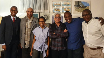 The Boys Club converge at the Late Bob Collymore's home to mark 1-year anniversary
