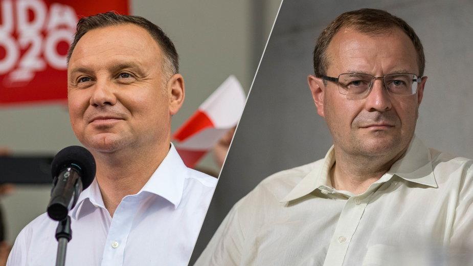 Prezydent Andrzej Duda / Prof. Antoni Dudek