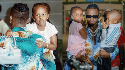 Diamond Platnumz hits the studio with daughter Tiffah for his upcoming song (Video)