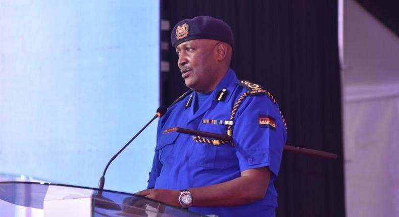 Inspector General of Police Hillary Mutyambai during a recent event at the Prosecution Training Institute, Loresho Campus