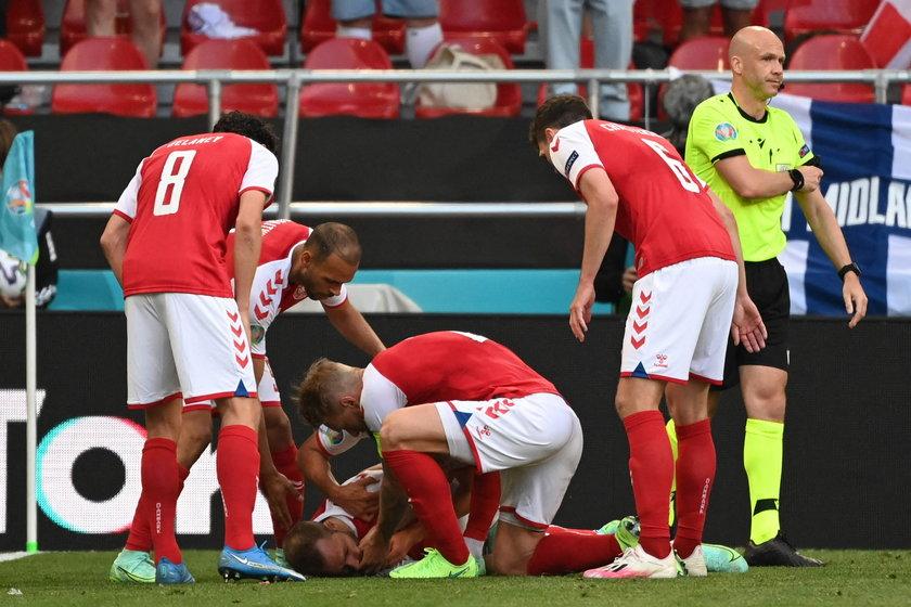 W 43. minucie spotkania Dania – Finlandia Christian Eriksen (29 l.) nagle stracił przytomność i bezwiednie upadł.