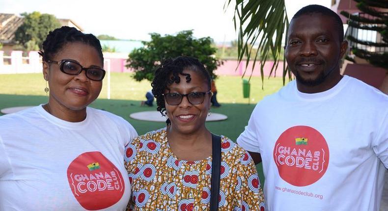 Ernestina Appiah (left) is founder of Ghana Code Club