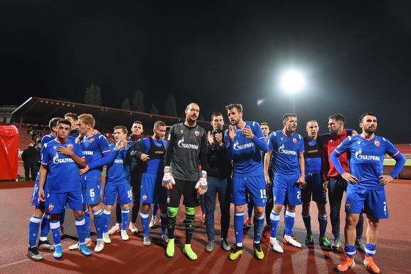 Slavlje fudbalera Crvene zvezde