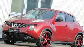 Nissan Juke w cukierkowej czerwieni