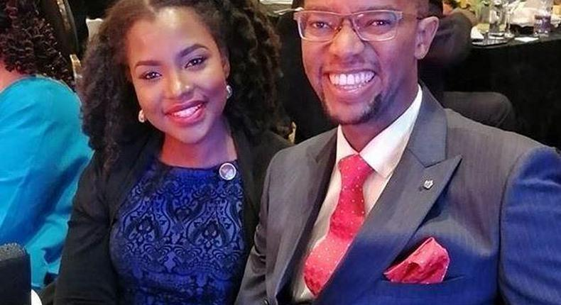 Celebrity couple Waihiga Mwaura and Joyce Omondi