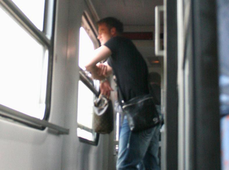 Boruc jechał pociągiem z Warszawy do Poznania