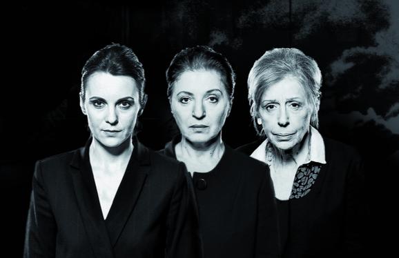 Nada Šargin, Mirjana Karanović i Branka Petrić u
