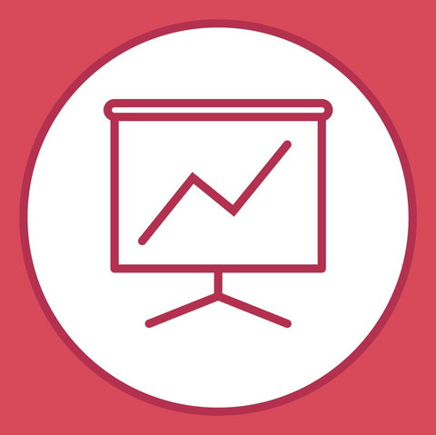 Business presentation line icon - Illustration