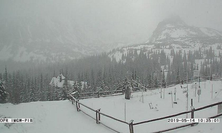 Połowa maja, a tu... śnieg