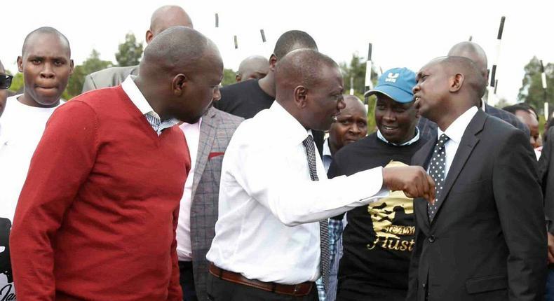 DP Ruto, Kipchumba Murkomen, Oscar Sudi and other leaders. ODM Chairman John Mbadi points finger at DP Ruto, Murkomen over Arror Kimwarer dams scandal