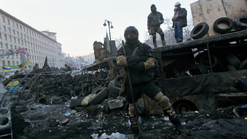 Protesty antyrządowe w Kijowie
