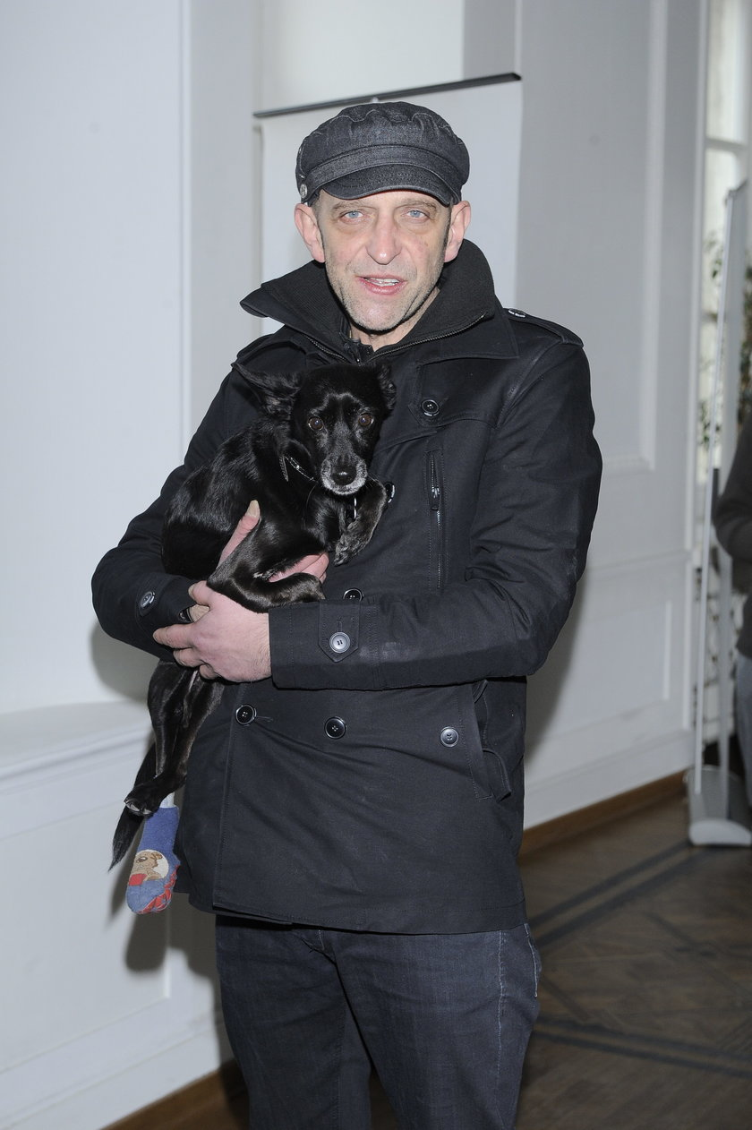 Janusz Chabior z psem