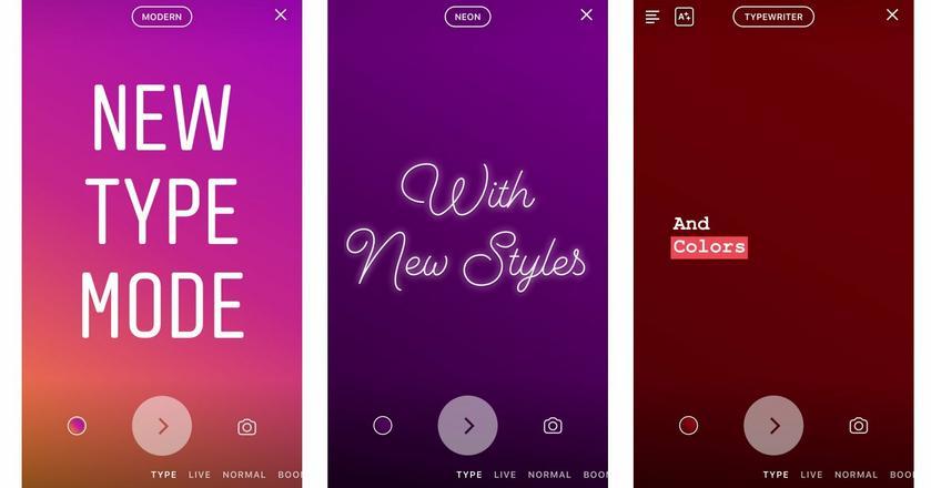 Tryb pisania ułatwia prowadzenie relacji w Instagram Stories