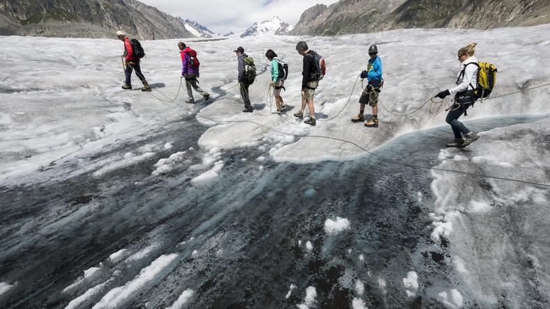 Długość lodowca Aletsch w Szwajcarii wynosi 23 km. Jego powierzchnia to aż 128 km kwadratowych, za to głębokość sięga prawie 1000 m.