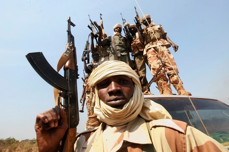 Chadian soldiers in Damara sent to quell rebel attacks.